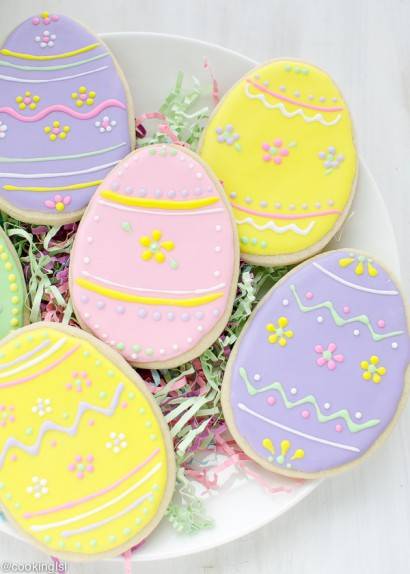 Easter Egg Sugar Cookies with Royal Icing | Tasty Kitchen: A Happy ...