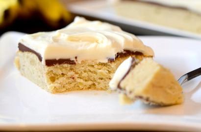 Banana fudge layer cake recipe