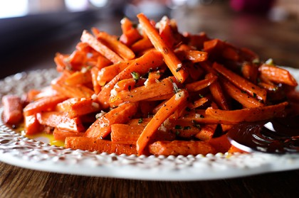 Roasted Carrots With Vinaigrette The Pioneer Woman
