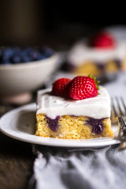 Tasty Berry Poke Cake