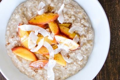 Coconut Breakfast Pudding with Sauteed Nectarines | Tasty Kitchen: A ...