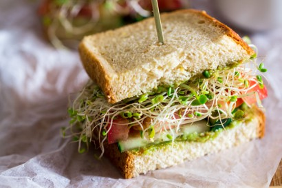 Mexican Avocado Sprout Sandwiches Tasty Kitchen A Happy