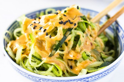 Zucchini Noodles with Spicy Peanut Sauce | Tasty Kitchen: A Happy ...