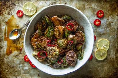 Crispy Fried Brussels Sprouts with Honey Sriracha Glaze | Tasty ...
