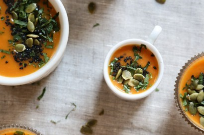 Creamy Roasted Carrot Soup with Miso and Black Sesame | Tasty Kitchen ...