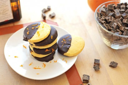 Chocolate-Dipped Orange Shortbread Cookies | Tasty Kitchen ...
