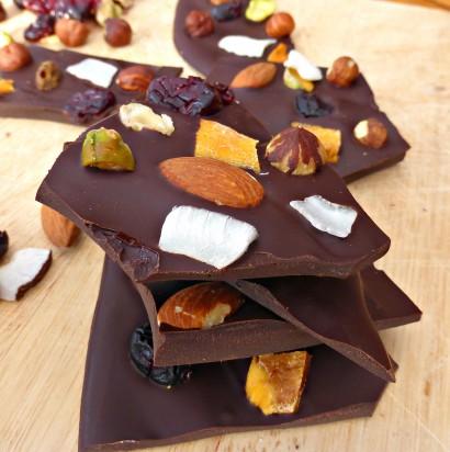 Fruit and Nut Dark Chocolate Bark | Tasty Kitchen: A Happy Recipe ...