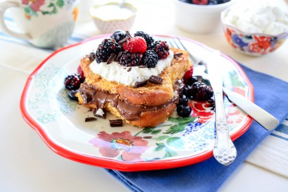 Nutella-Stuffed Crunchy French Toast with Berries   The Pioneer Woman