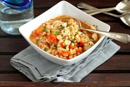 Chicken and barley stew recipe
