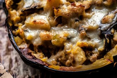 Apple Mushroom and Sausage Stuffed Acorn Squash | Tasty Kitchen: A ...