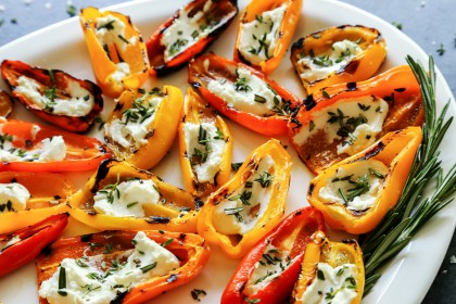 Grilled Mini Sweet Peppers With Goat Cheese The Pioneer