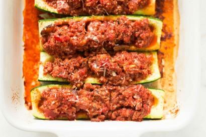 Turkey And Quinoa Stuffed Zucchini Boats Tasty Kitchen A Happy