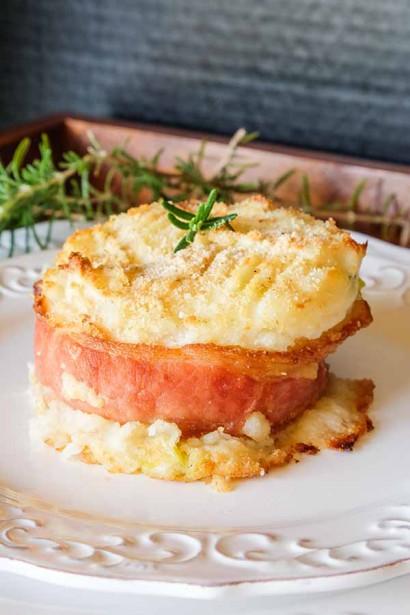 Baked Cheesy Potato Cakes with Bacon | Tasty Kitchen: A ...
