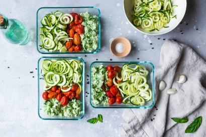 Basil Pesto Chicken Pasta Meal Prep Bowls | Tasty Kitchen: A Happy Recipe  Community!