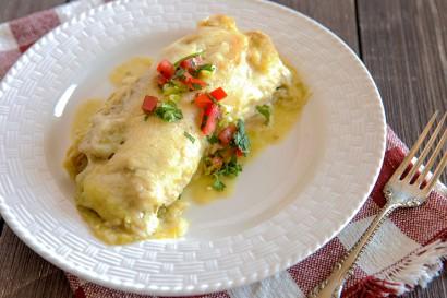 Lori S Green Chili Chicken Enchiladas Tasty Kitchen A Happy
