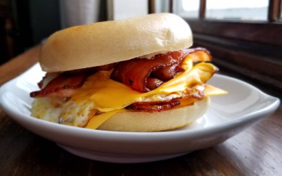 Bacon, Egg, and Cheese Bagel Sandwich | Tasty Kitchen: A Happy Recipe  Community!