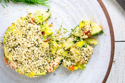 Fresh Hemp Seed Salad