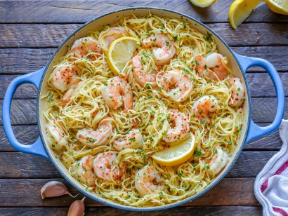 Rank 3 in Best Shrimp Angelic Hair Pasta Recipe with calories and ingredients