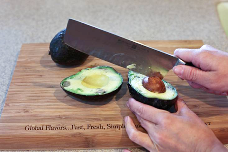 Tasty Kitchen Blog: How To Open An Avocado and Keep All 10 Fingers. Guest post by Jaden Hair of Steamy Kitchen.