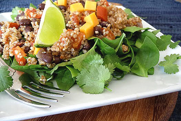 Tasty Kitchen Blog: Main Dish Salads (Quinoa Taco Salad, recipe submitted by TK member Katie of Good Life Eats)