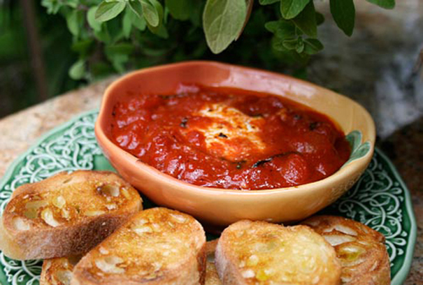 Tasty Kitchen Blog: Meet Deborah Mele of Italian Food Forever (Warm Goat Cheese In Tomato Sauce)