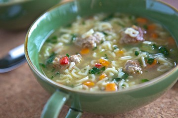 Tasty Kitchen Blog: ABC Meatball Soup. Guest post by Jaden Hair of Steamy Kitchen.