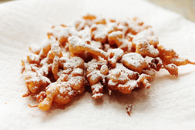 Tasty Kitchen Blog: Funnel Cakes. Photo and post by Ree Drummond, recipe submitted by TK member HeatherD
