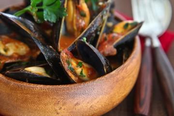 Tasty Kitchen Blog: 15-Minute Mussels. Guest post by Jaden Hair of Steamy Kitchen.