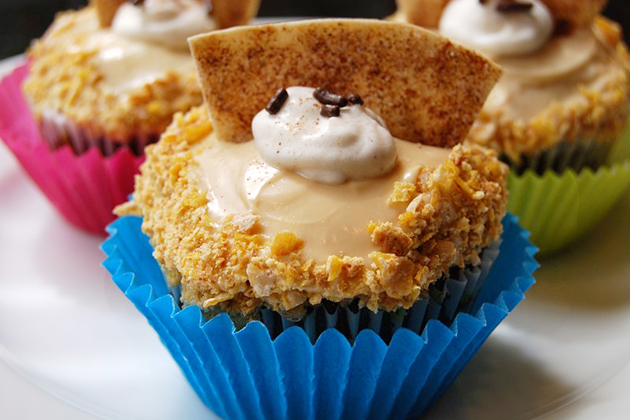 Tasty Kitchen Blog: Cinco de Mayo. Guest post by Jaden Hair of Steamy Kitchen, Mexican Fried Ice Cream Cupcake recipe submitted by TK member Monstermama.