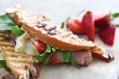 Tasty Kitchen Blog: Strawberry Ham Brie Panini. Guest post by Jaden Hair of Steamy Kitchen.