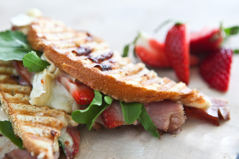 Tasty Kitchen Blog: Strawberry Ham Brie Panini. Guest post by Jaden Hair of Steamy Kitchen.