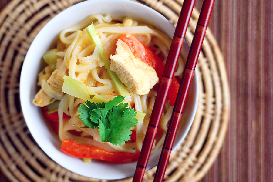 Tasty Kitchen Blog: Red Curry Coconut Noodles. Guest post by Erica Kastner of Cooking for Seven, recipe submitted by TK member nika.