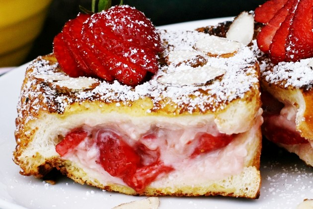 Tasty Kitchen Blog: Stuffed French Toast. Guest post by Alice Currah of Savory Sweet Life, recipe submitted by TK member Amanda (manda2177) of I Am Baker.