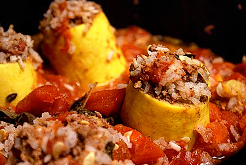Tasty Kitchen: Blog In Season! (Lebanese Stuffed Squash, from TK member A Busy Nest)