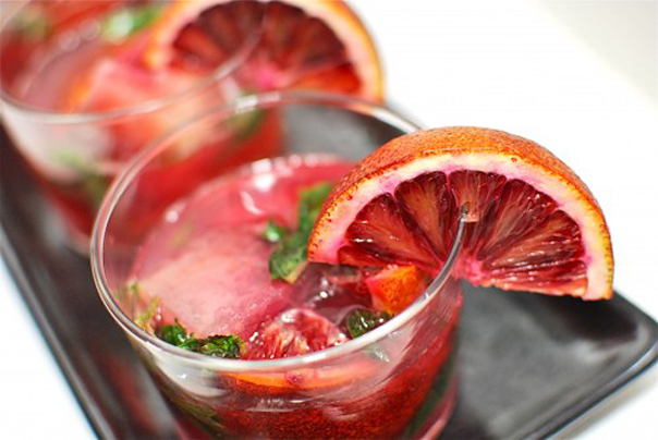 Tasty Kitchen Blog: Mojito Madness! Guest post by Jaden Hair of Steamy Kitchen (Blood Orange Mojitos from Dhale and Pierre of Culinary Musings)
