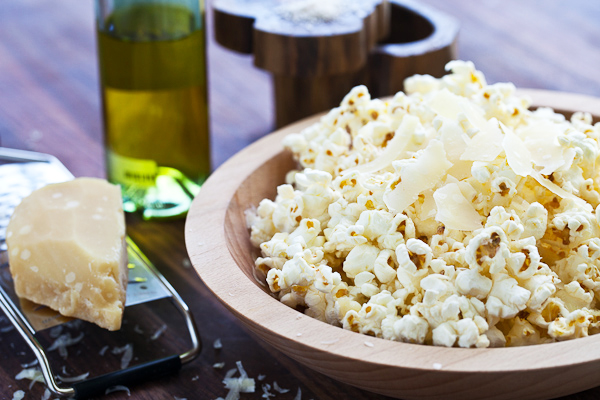 Tasty Kitchen Blog: Popcorn with Parmesan and Truffle Oil. Guest post by Jaden Hair of Steamy Kitchen.