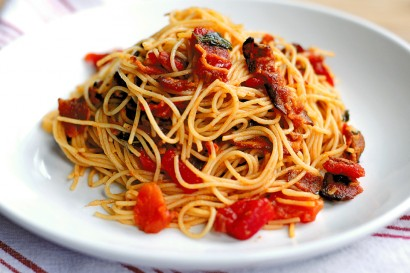 Bacon Tomato Capellini Tasty Kitchen Blog