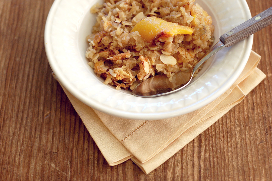 Tasty Kitchen Blog: Fruit on the Bottom Baked Oatmeal. Guest post and recipe from Erica Kastner of Cooking for Seven.