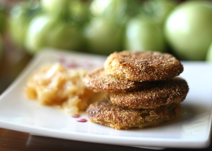 Tasty Kitchen Blog: Looks Delicious! (Fried Green Tomatoes, submitted by TK member Natalie Perry of Perry's Plate)