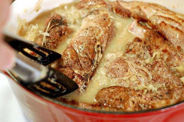 Tasty Kitchen Blog: Sauerkraut and Pork. Guest post and recipe from John Dawson of Patio Daddio BBQ.
