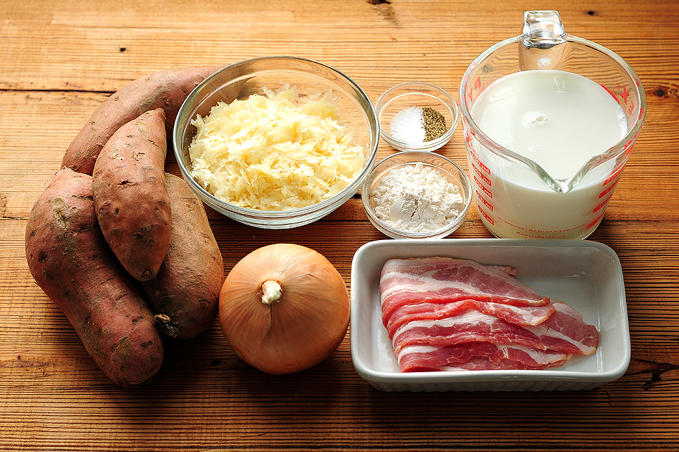 Tasty Kitchen Blog: Scalloped Sweet Potatoes. Guest post by Amy Johnson of She Wears Many Hats, recipe submitted by TK member quincyskeeper.