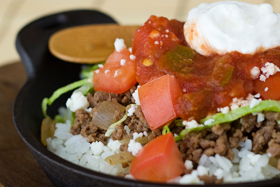 Tasty Kitchen Blog: Okinawan Takoraisu (Taco Rice). Guest post and recipe from Rachael of La Fuji Mama.