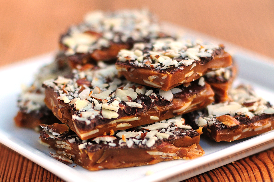 Tasty Kitchen Blog: Almond Roca. Guest post by Amy Johnson of She Wears Many Hats, recipe submitted by TK member mdatwell.