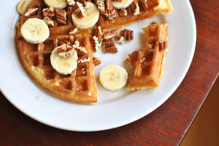 Tasty Kitchen Blog: Nancy's Mom's Light and Crisp Waffles. Guest post by Maggy Keet of Three Many Cooks, recipe submitted by TK member Sweetpea Nancy.