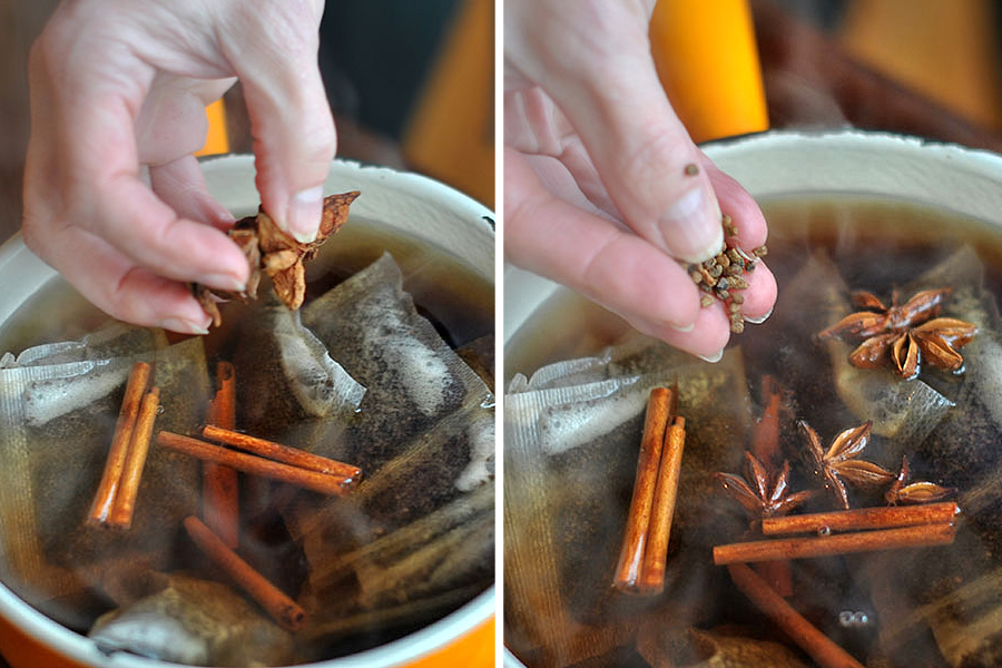 Tasty Kitchen Blog: Amazing Spiced Chai Concentrate. Guest post by Maggy Keet of Three Many Cooks, recipe submitted by TK member thecatnipcat.