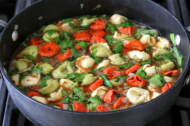 Tasty Kitchen Blog: Tortellini Soup. Guest post by Maria Lichty of Two Peas and Their Pod, recipe submitted by TK member Katie of The Well-Fed Newlyweds.