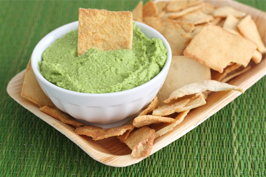 Tasty Kitchen Blog: Spinach Feta Hummus. Guest post by Maria Lichty of Two Peas and Their Pod, recipe submitted by TK member Gaby Dalkin of What's Gaby Cooking.