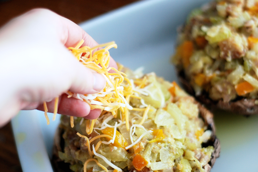 Tasty Kitchen Blog: Glorious Stuffed Portobello Mushrooms. Guest post by Erica Kastner of Cooking for Seven, recipe submitted by TK member Acher.