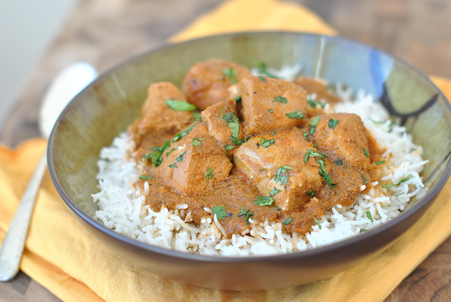 Tasty Kitchen Blog: Slow Cooker Coconut Chicken Curry. Guest post by Maggy Keet of Three Many Cooks, recipe submitted by TK member Ayalla of Salt and Paprika.