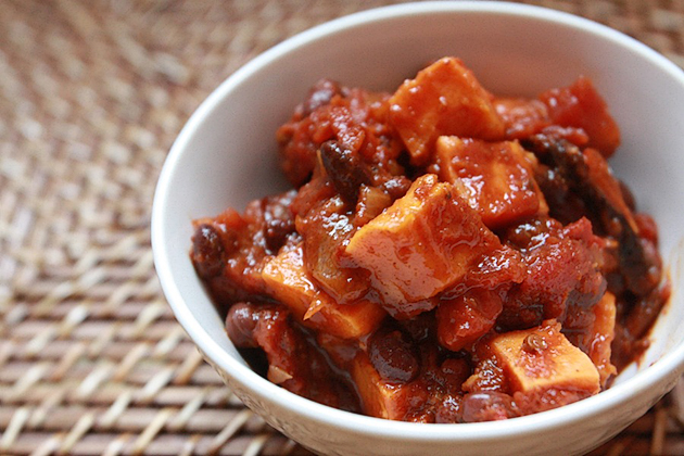 Tasty Kitchen Blog: Chipotle Spiced Sweet Potato Chili. Guest post and recipe from Maris Callahan of In Good Taste.